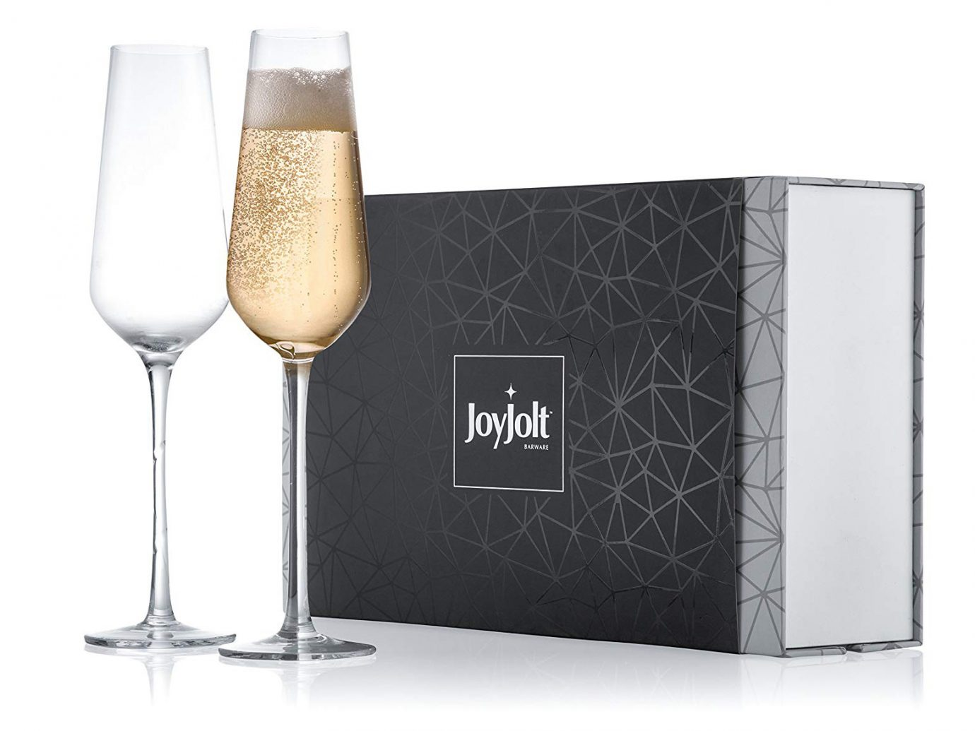 JoyJolt Meille High End Crystal Champagne Glasses