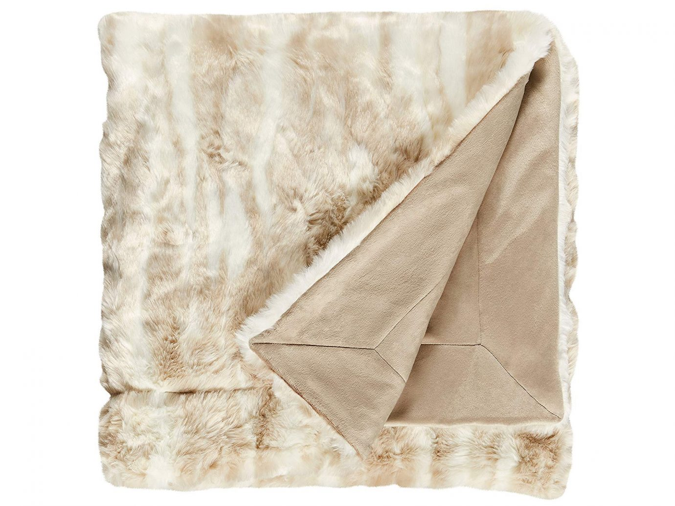 Stone & Beam Marble Faux Fur Throw Blanket