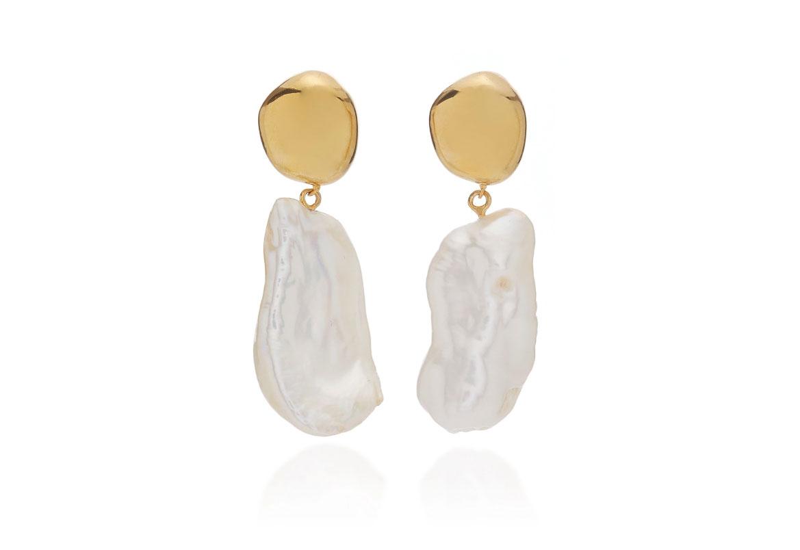 Agmes Patrice Gold Vermeil Pearl Earrings