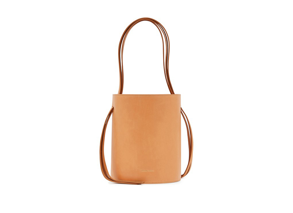Mansur Gavriel Vegetable-tanned leather fringed bucket bag