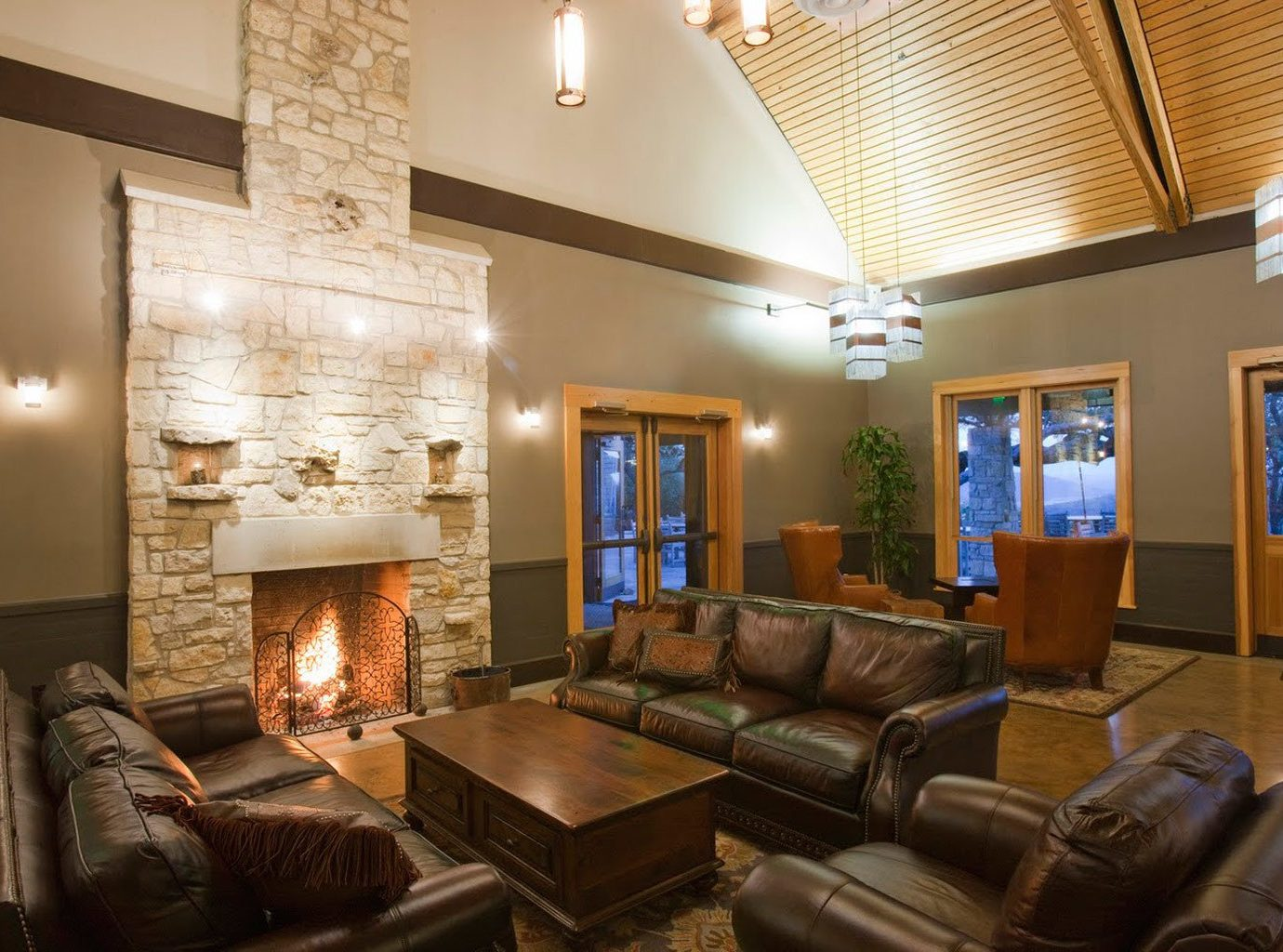 All-Inclusive Resorts Cultural Fireplace Hotels Lobby Lounge Resort Romance Rustic Wellness indoor Living sofa ceiling room wall living room property estate home interior design real estate condominium furniture Suite cottage