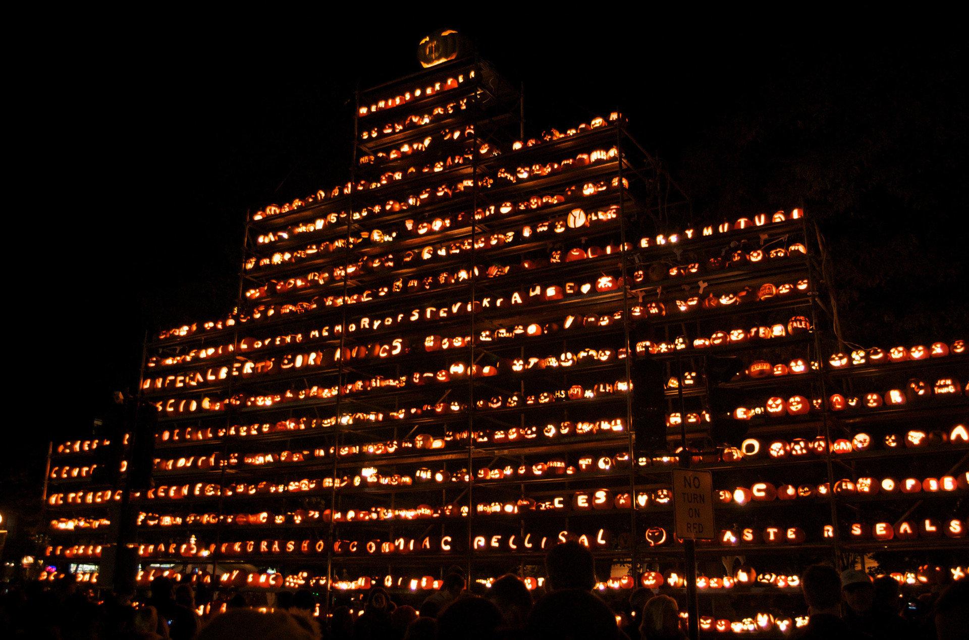 exhibit festival festive glow halloween holiday lights night night lights pumpkins scary Trip Ideas outdoor building City light human settlement skyline metropolis skyscraper cityscape line tower