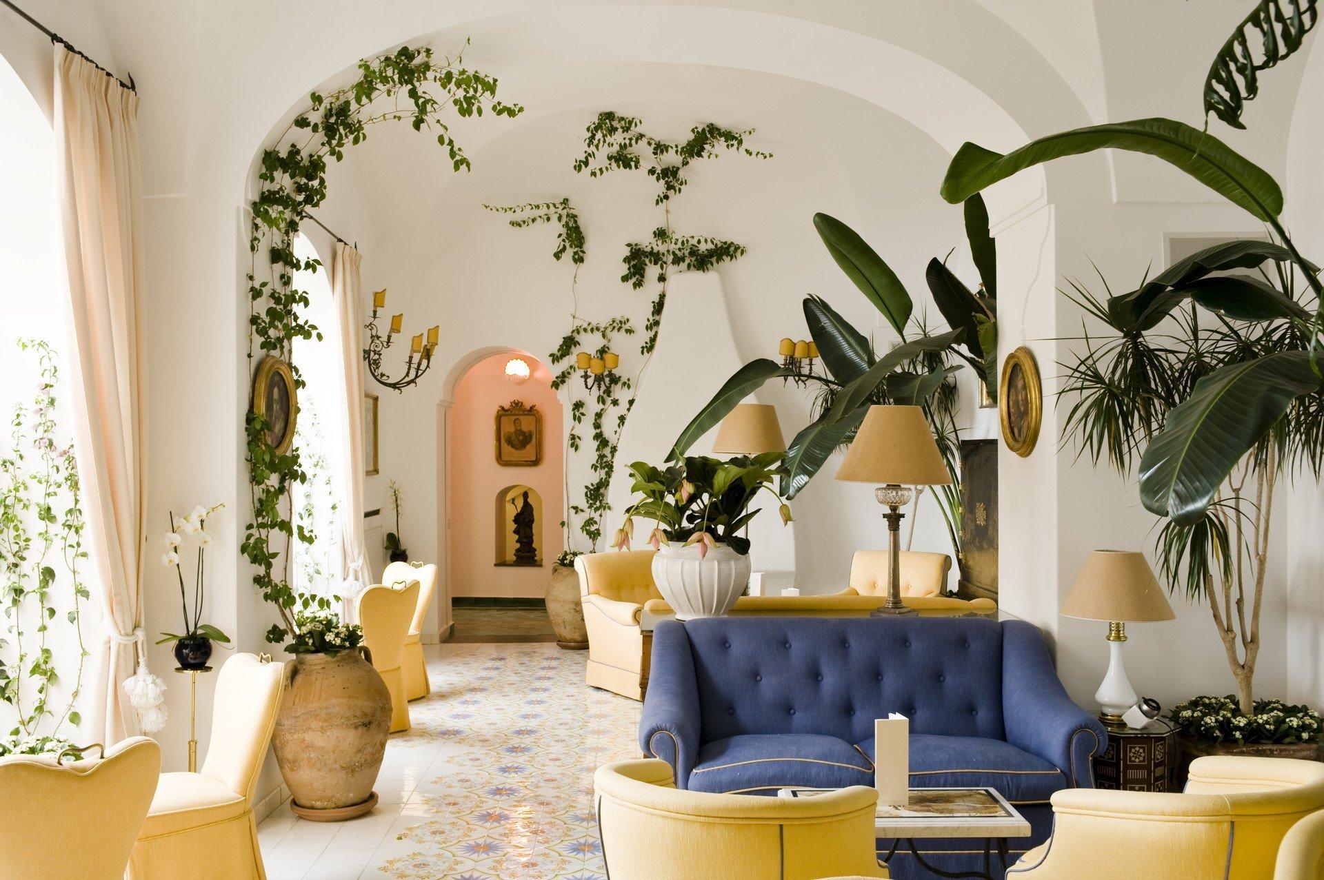 Hotels Romance wall indoor Living room living room plant furniture home interior design floristry estate Design decorated sofa