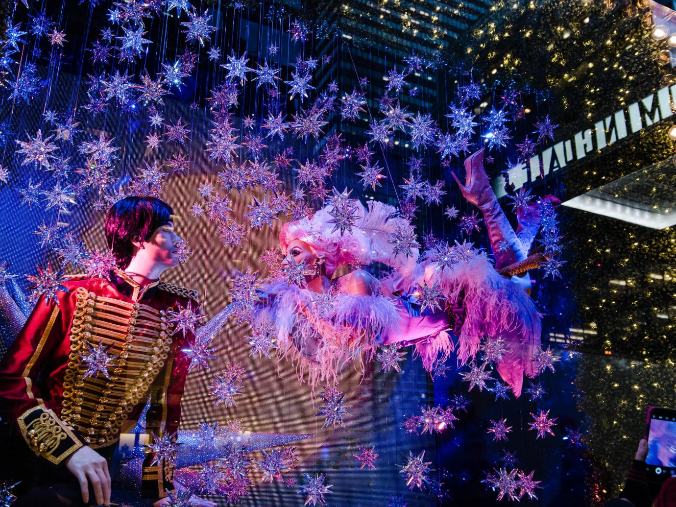 Offbeat Winter tree purple Entertainment festival christmas lights stage fête event tradition Christmas carnival christmas decoration fun computer wallpaper world plant special effects space night colorful