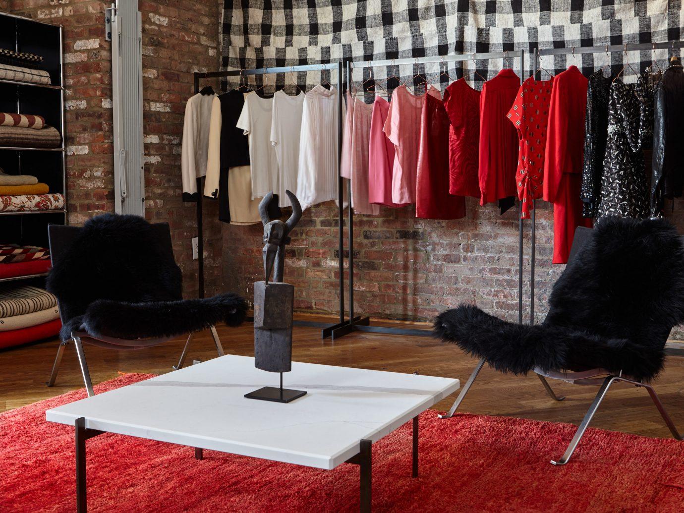 Hotels red indoor curtain room black flooring furniture stage interior design Boutique Design