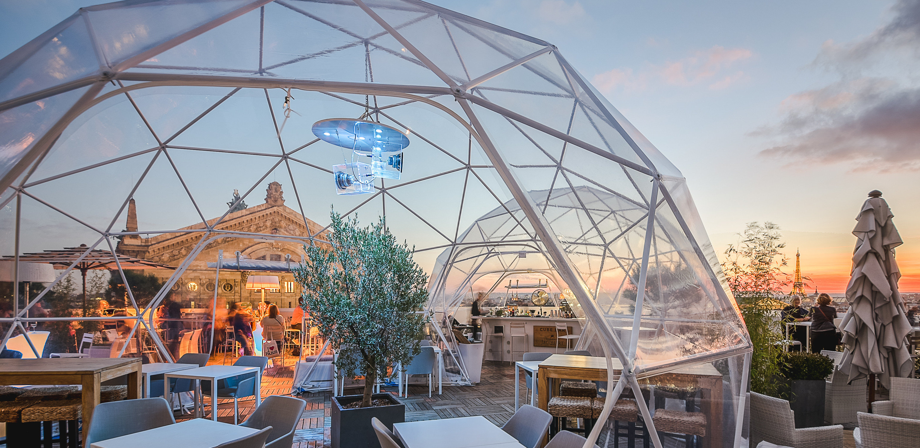 Food + Drink Paris Trip Ideas sky building outdoor dome structure tourist attraction roof outdoor structure City recreation amusement park day