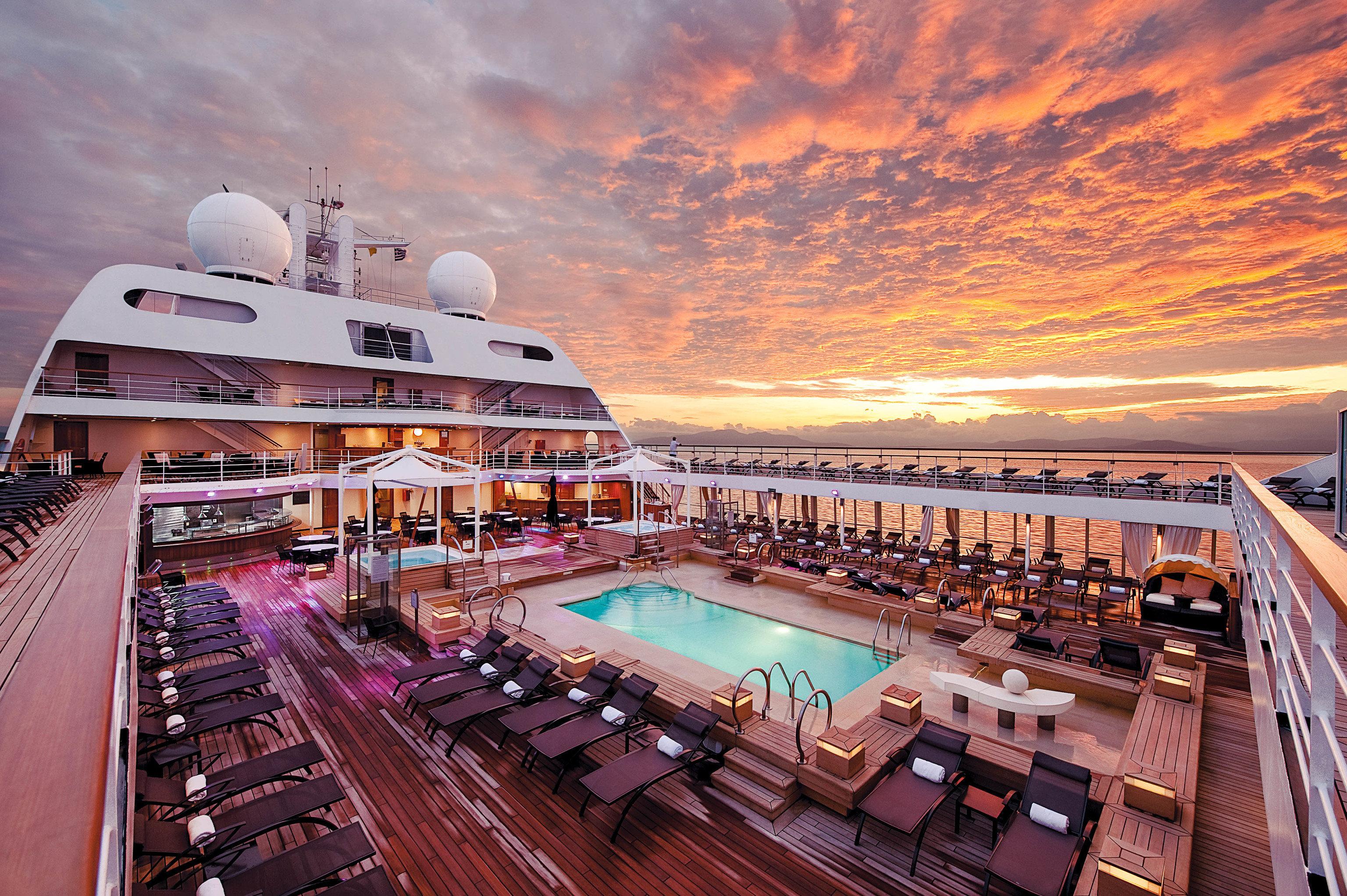 Cruise Travel Luxury Travel Trip Ideas outdoor passenger ship cruise ship ship water transportation watercraft vehicle evening luxury yacht sky leisure yacht