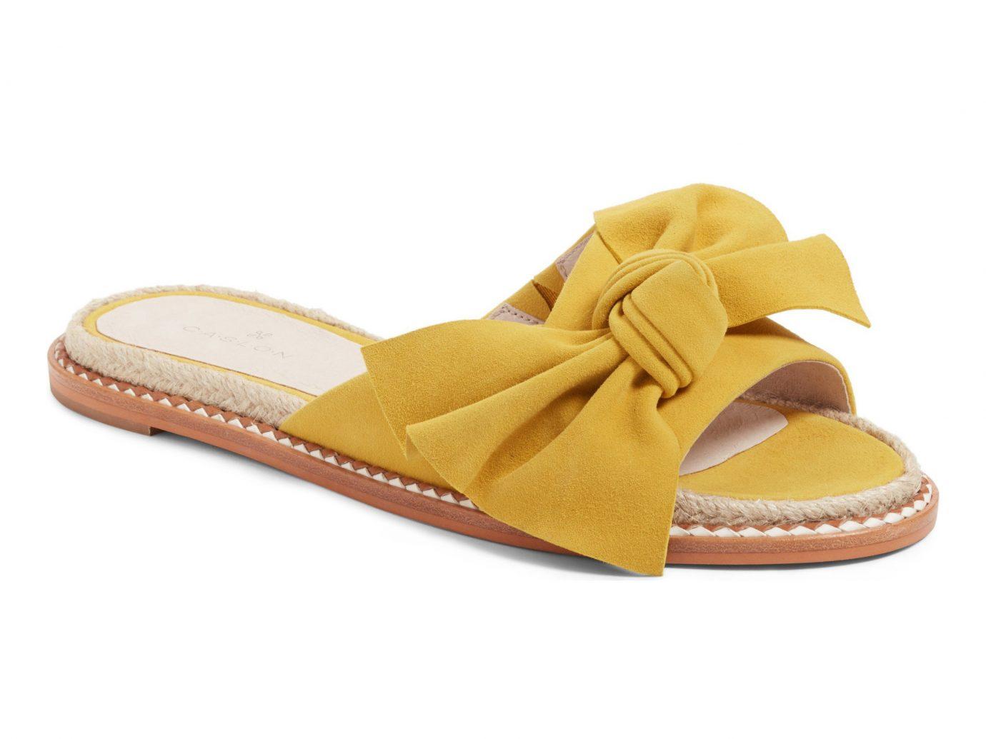 Spring Travel Style + Design Travel Shop footwear yellow shoe sandal product beige outdoor shoe walking shoe product design