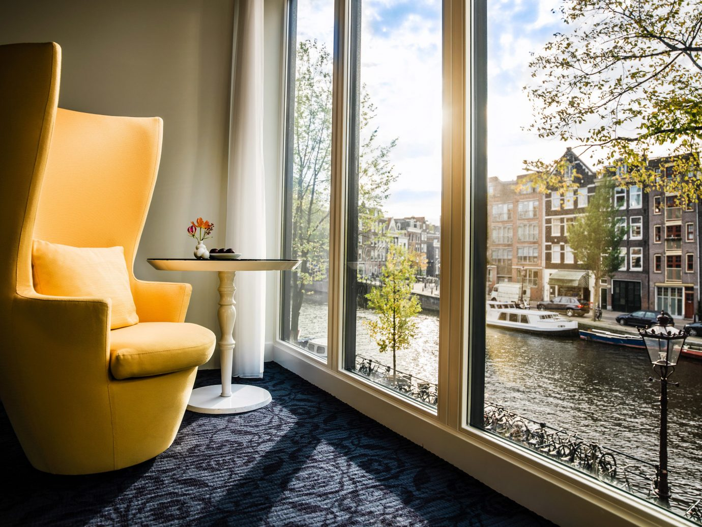 Amsterdam Boutique Hotels Hip Hotels Living Lounge Luxury Modern The Netherlands property room indoor floor home interior design living room condominium estate Design Lobby window flooring apartment furniture