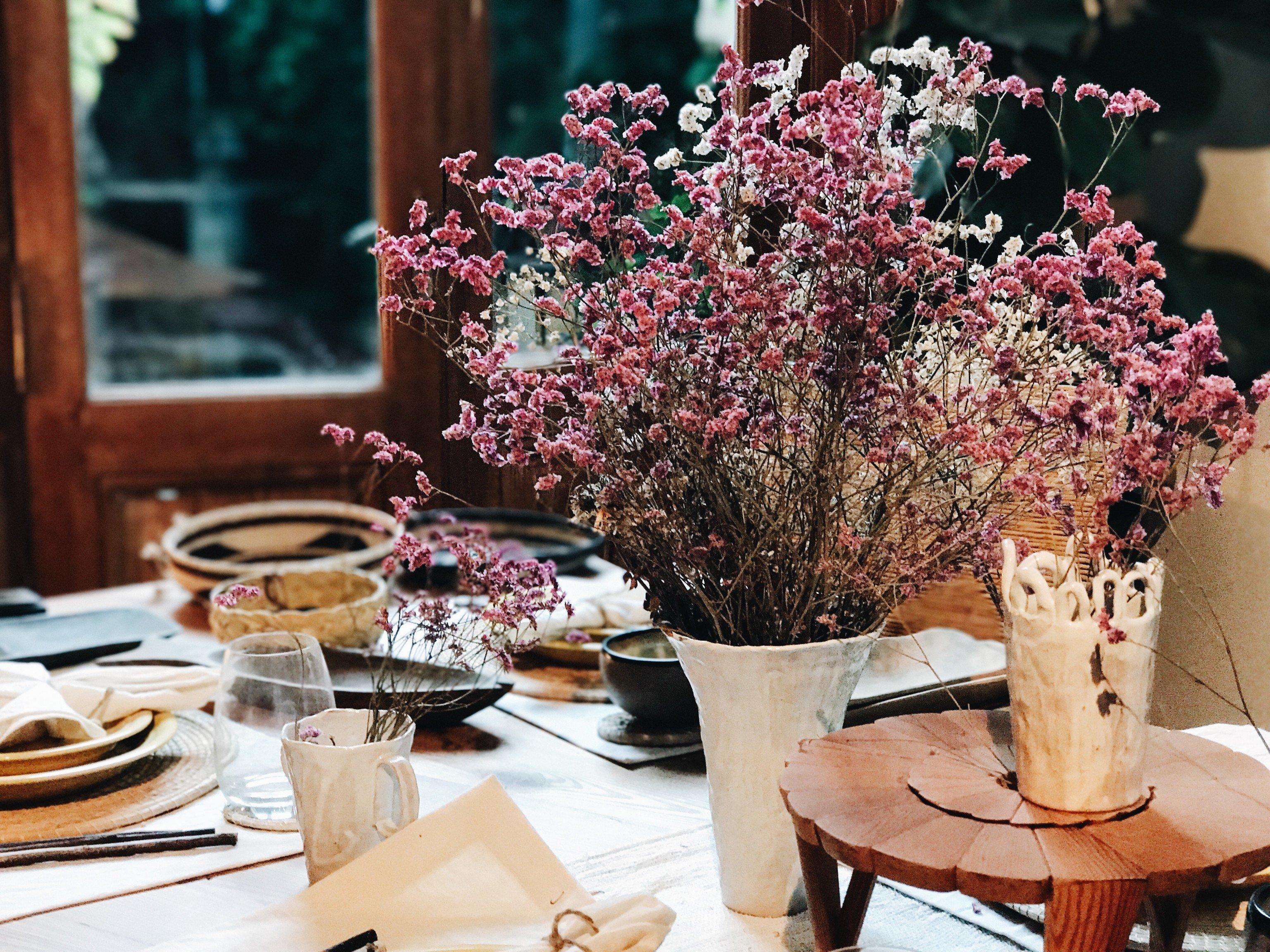 Trip Ideas table flower indoor flower arranging meal centrepiece floristry spring brunch floral design restaurant plant dining table
