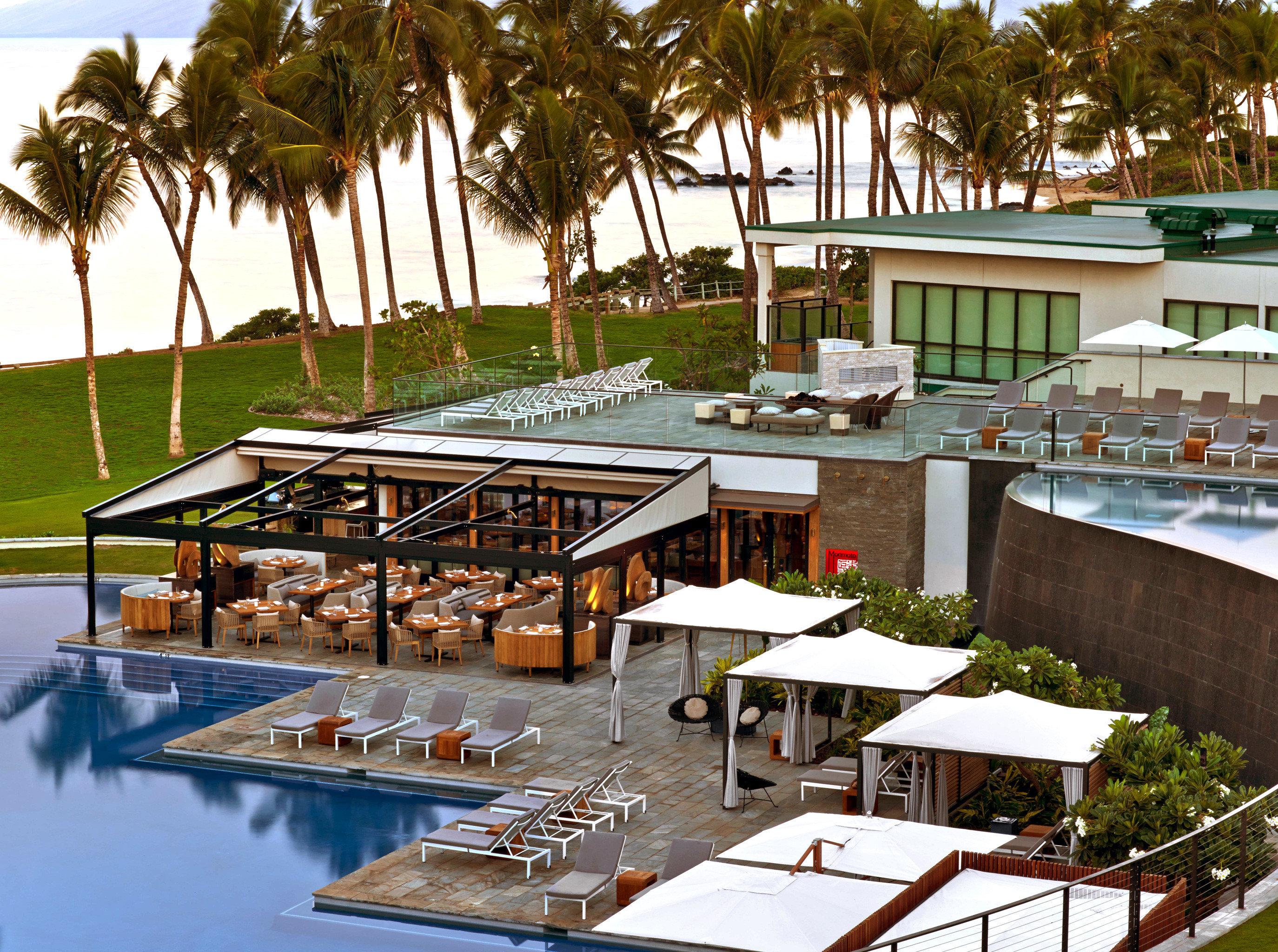 Exterior Grounds Honeymoon Hotels Luxury Pool Romance Romantic tree outdoor table leisure Resort swimming pool estate vacation restaurant dock plaza marina condominium Villa