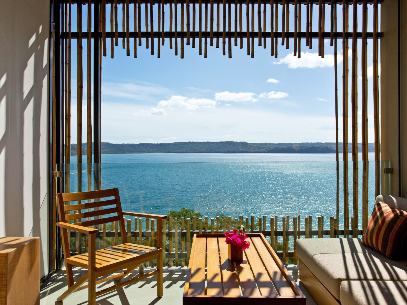 Couch And Chairs Overlooking Andaz Peninsula Papagayo In Costa Rica