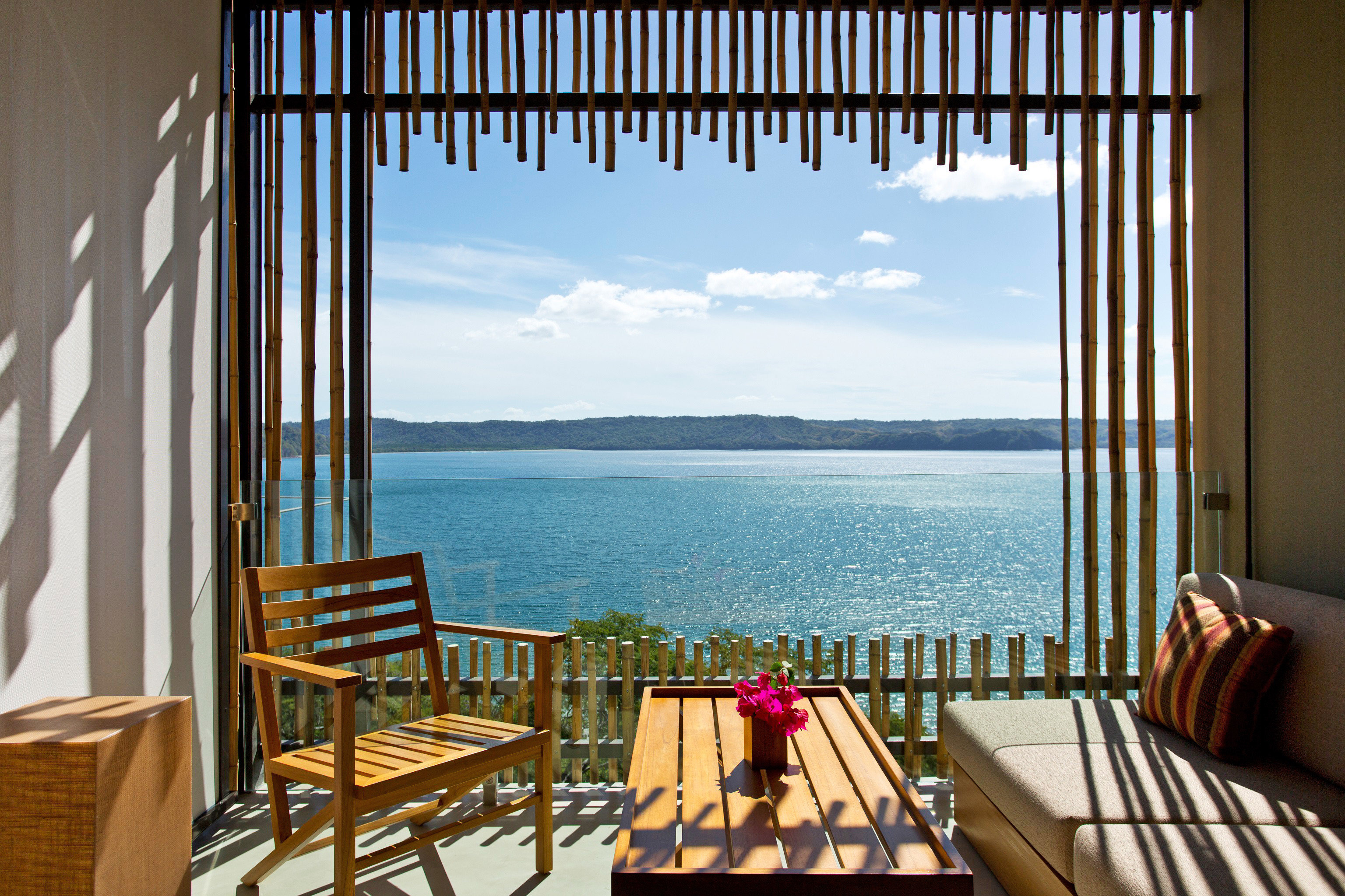 Deck Hotels Living Modern Resort Scenic views water chair property room interior design vacation estate cottage overlooking Villa apartment