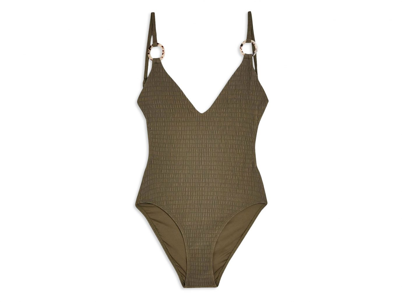 Topshop Plunge One Piece Swimsuit