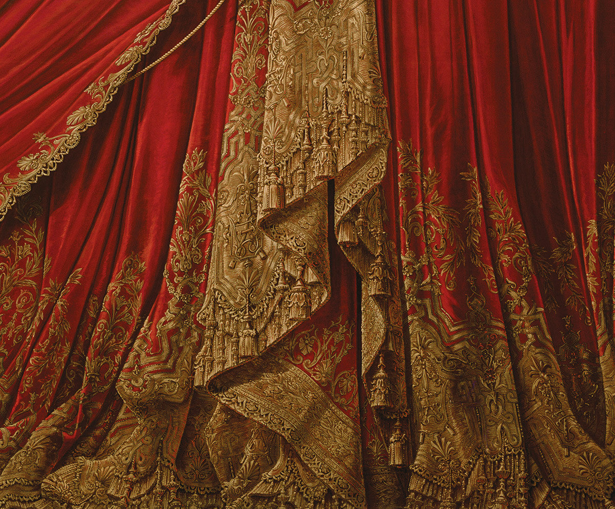 Arts + Culture curtain red indoor furniture textile interior design temple tapestry colorful clothes colored