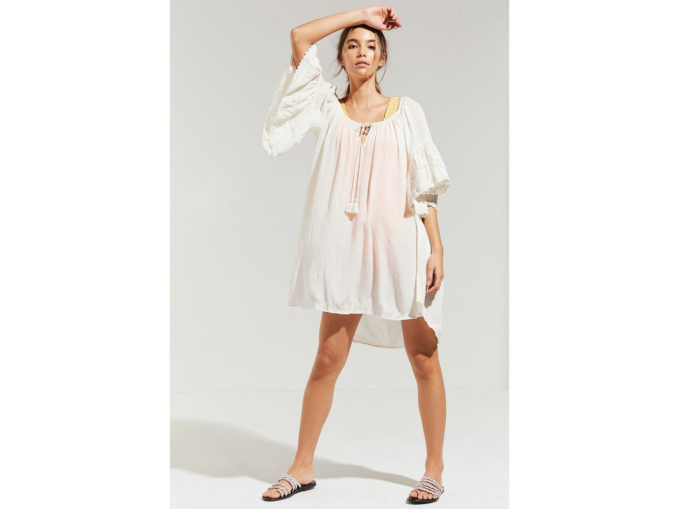 Trip Ideas dress clothing fashion model person day dress shoulder costume sleeve joint white neck posing dressed cocktail dress fashion design