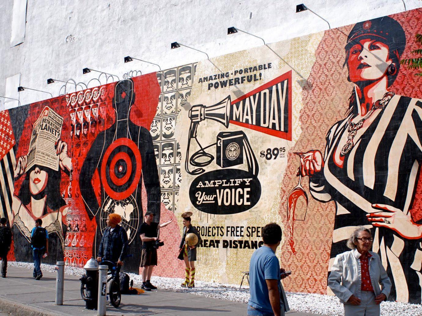 art Arts + Culture City city streets colorful graffiti Hotels street art streets urban walking road street mural infrastructure