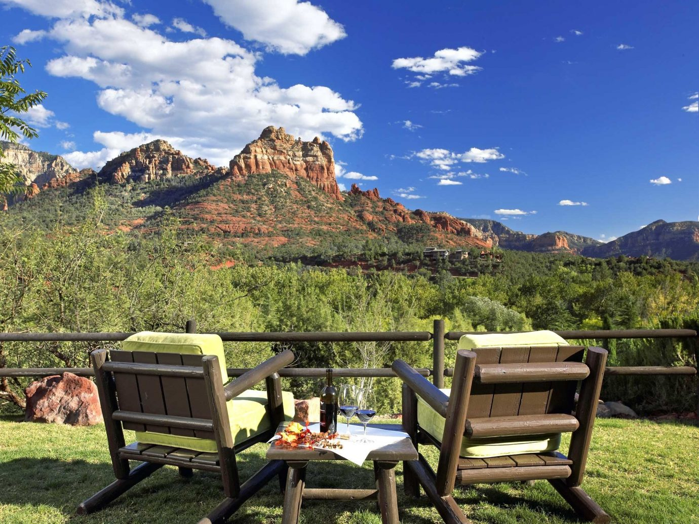 Exterior Mountains Outdoors Romance Romantic Scenic views Trip Ideas grass sky outdoor mountain vacation estate meadow seat chair