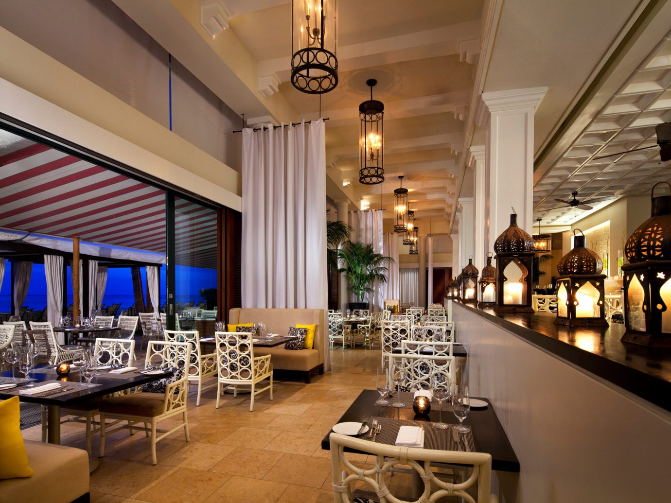 Boutique Hotels Hawaii Honolulu Hotels table indoor room restaurant function hall meal interior design estate Lobby Dining Design ballroom furniture Bar Island