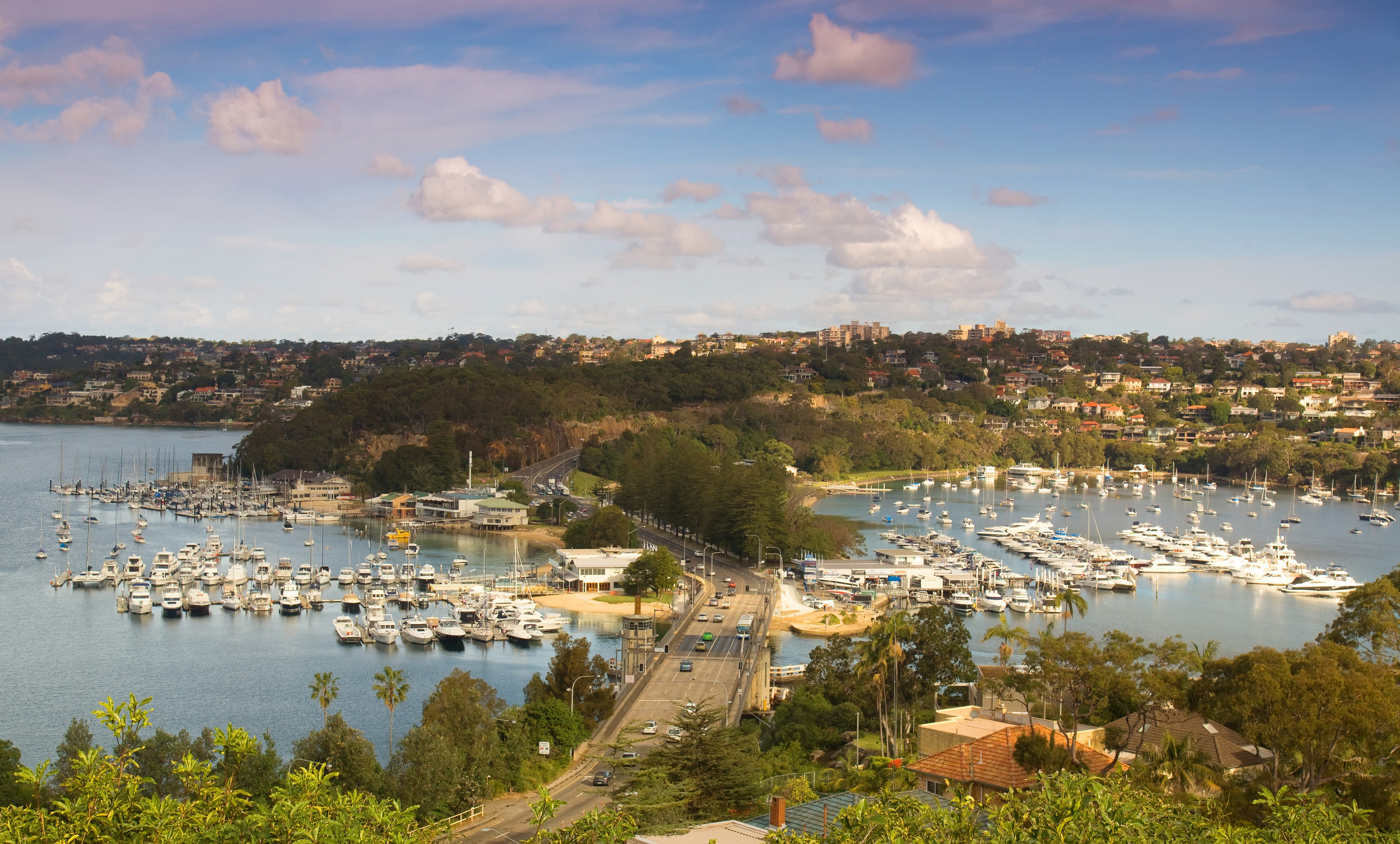 Outdoors + Adventure Sydney water outdoor sky Boat City marina Nature Lake River Harbor bird's eye view Sea bay Coast aerial photography horizon suburb cloud panorama tree reservoir dock port inlet skyline tourism shore overlooking surrounded several