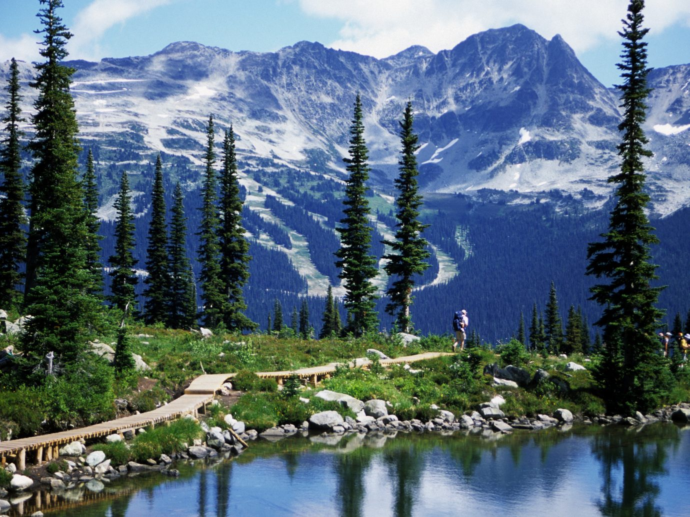 Beauty Trip Ideas tree outdoor sky mountain mountainous landforms wilderness Lake reflection mountain range Nature conifer ecosystem woody plant Forest pond landscape alps ridge larch temperate coniferous forest meadow biome surrounded plant wooded hillside
