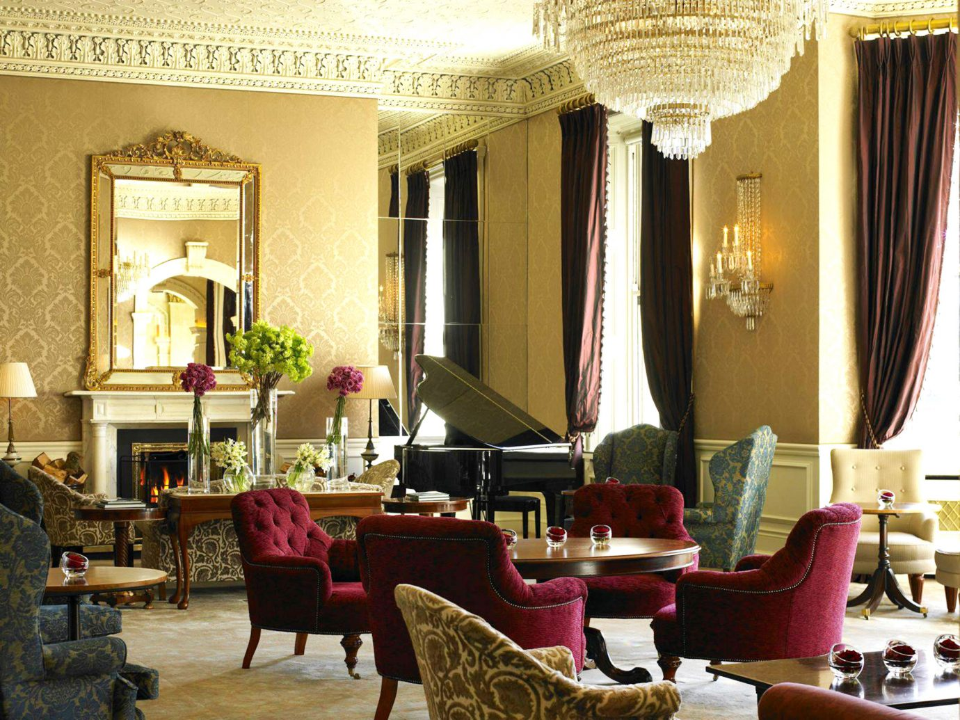 Classic Dublin Elegant Hotels Ireland Lounge Luxury indoor Living room floor chair living room property furniture estate Lobby interior design home restaurant dining room Suite Villa mansion decorated area arranged