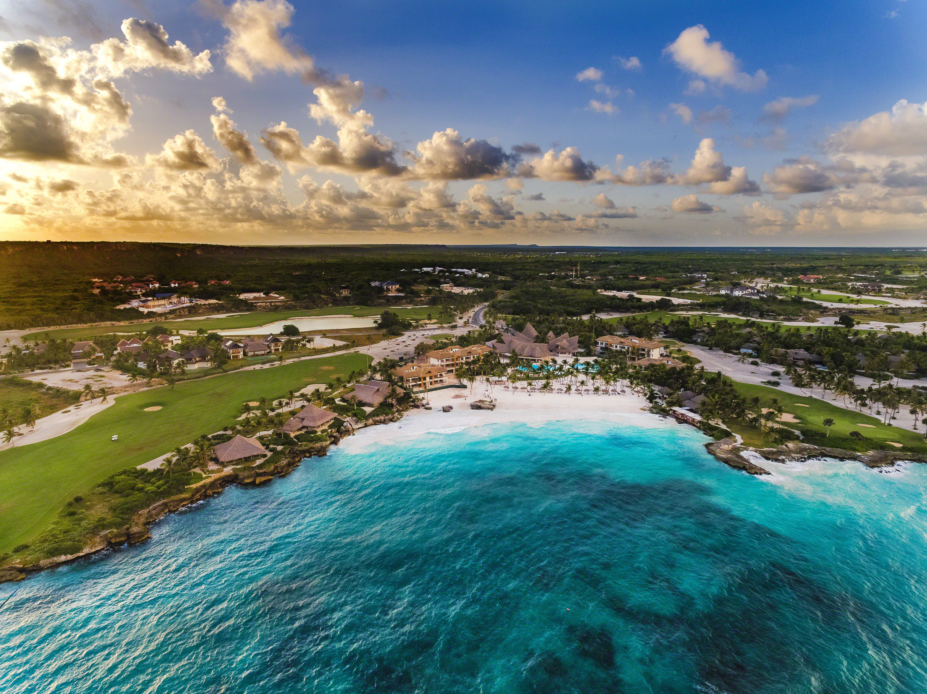 Hotels sky outdoor water Nature geographical feature Coast shore landform Sea body of water Ocean River wave bay aerial photography landscape Beach cape Lagoon cove promontory day