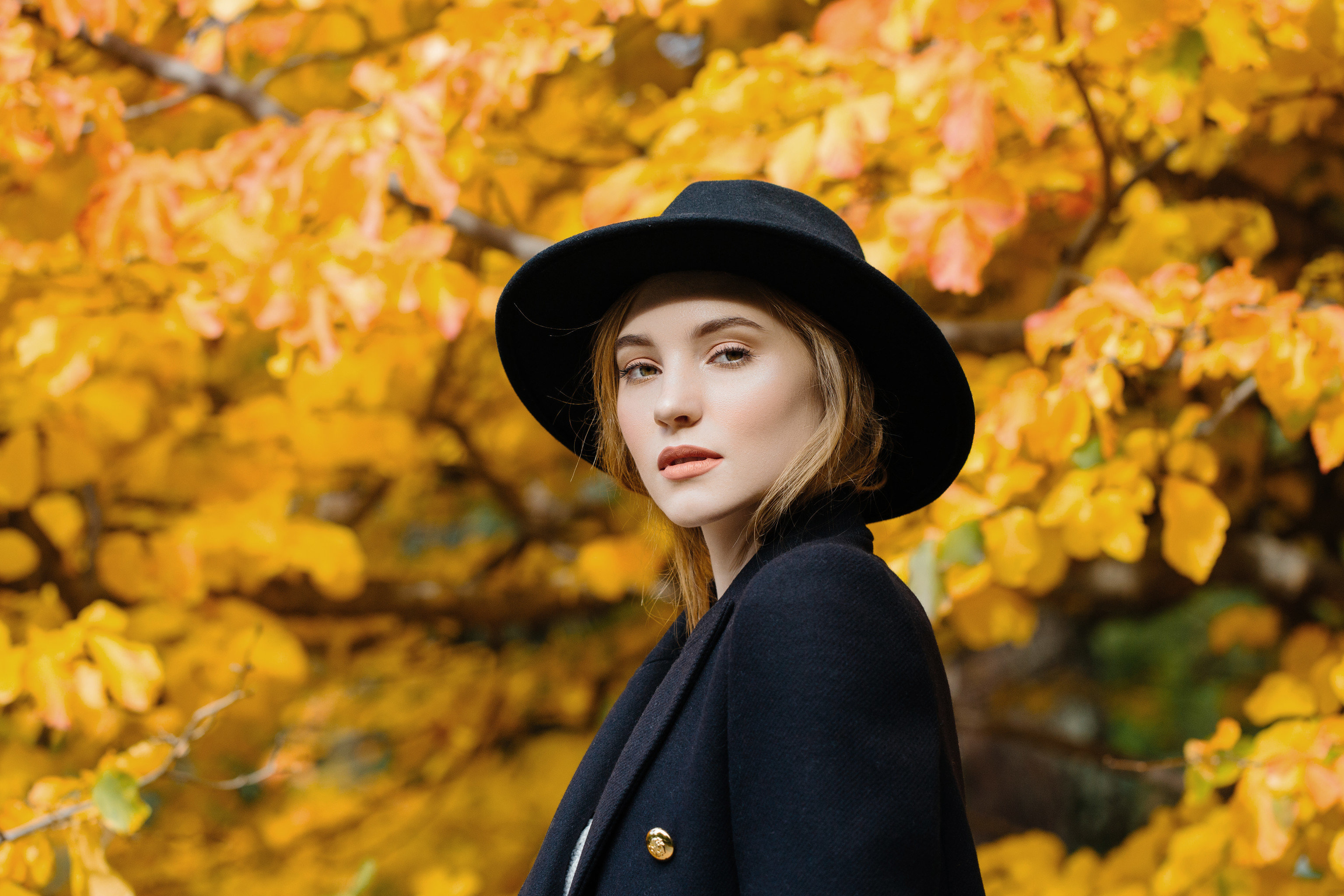 Health + Wellness Travel Shop person yellow autumn facial expression leaf Beauty wearing lady girl hat smile boy tree plant fun spring happiness portrait photography