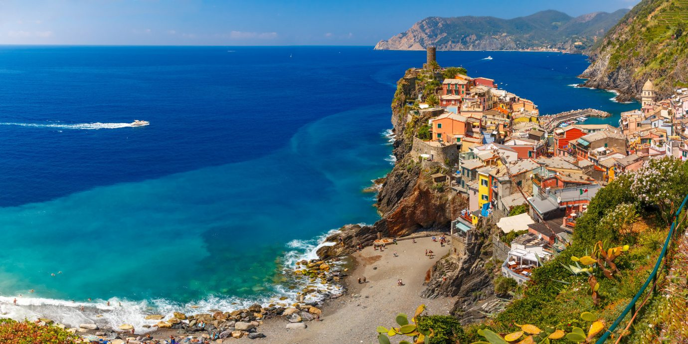 Italy Trip Ideas water outdoor sky Coast Nature Sea mountain coastal and oceanic landforms promontory tourism cape headland terrain bay cliff peninsula Ocean City Village cove klippe