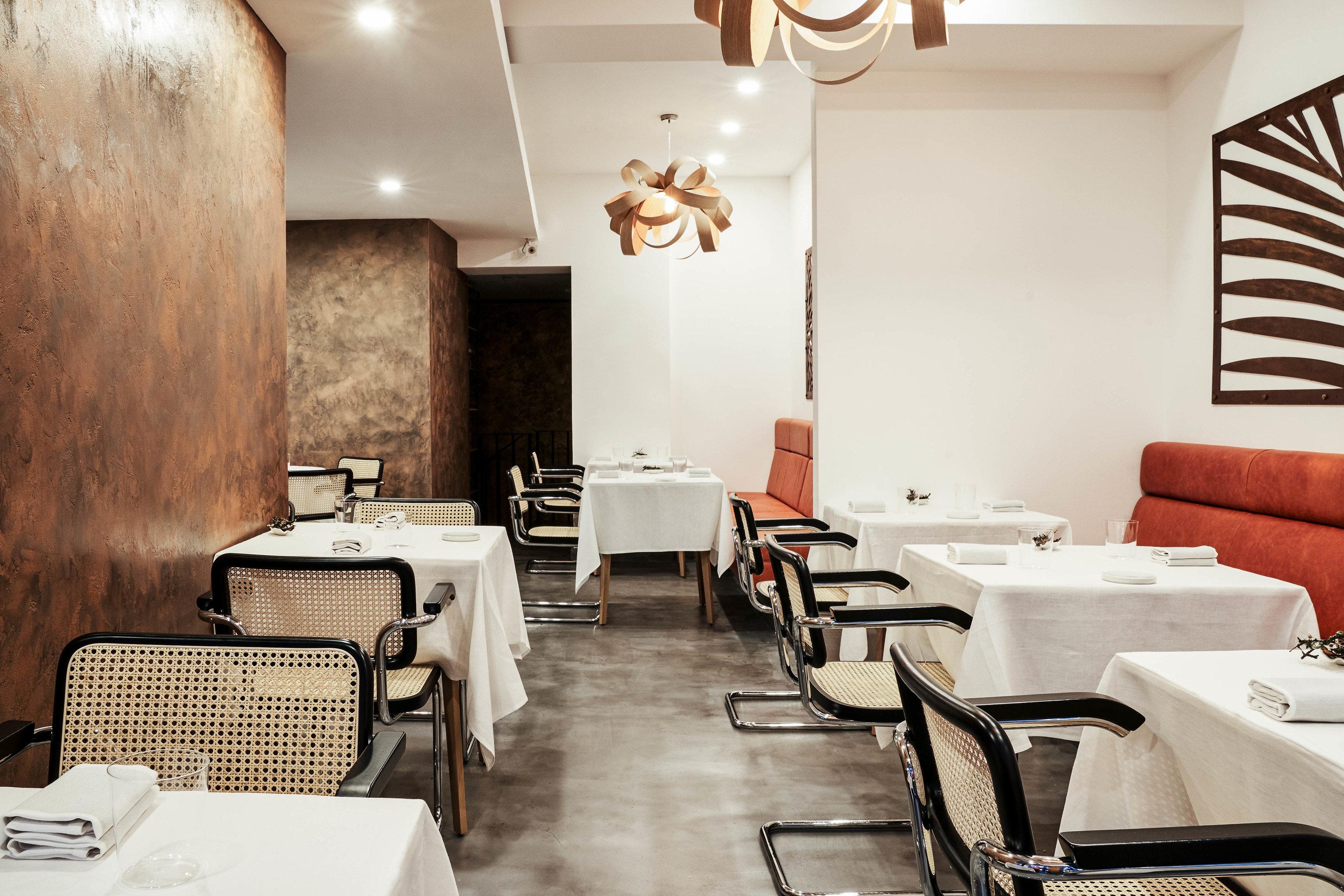 Food + Drink London indoor wall floor table restaurant chair interior design furniture café