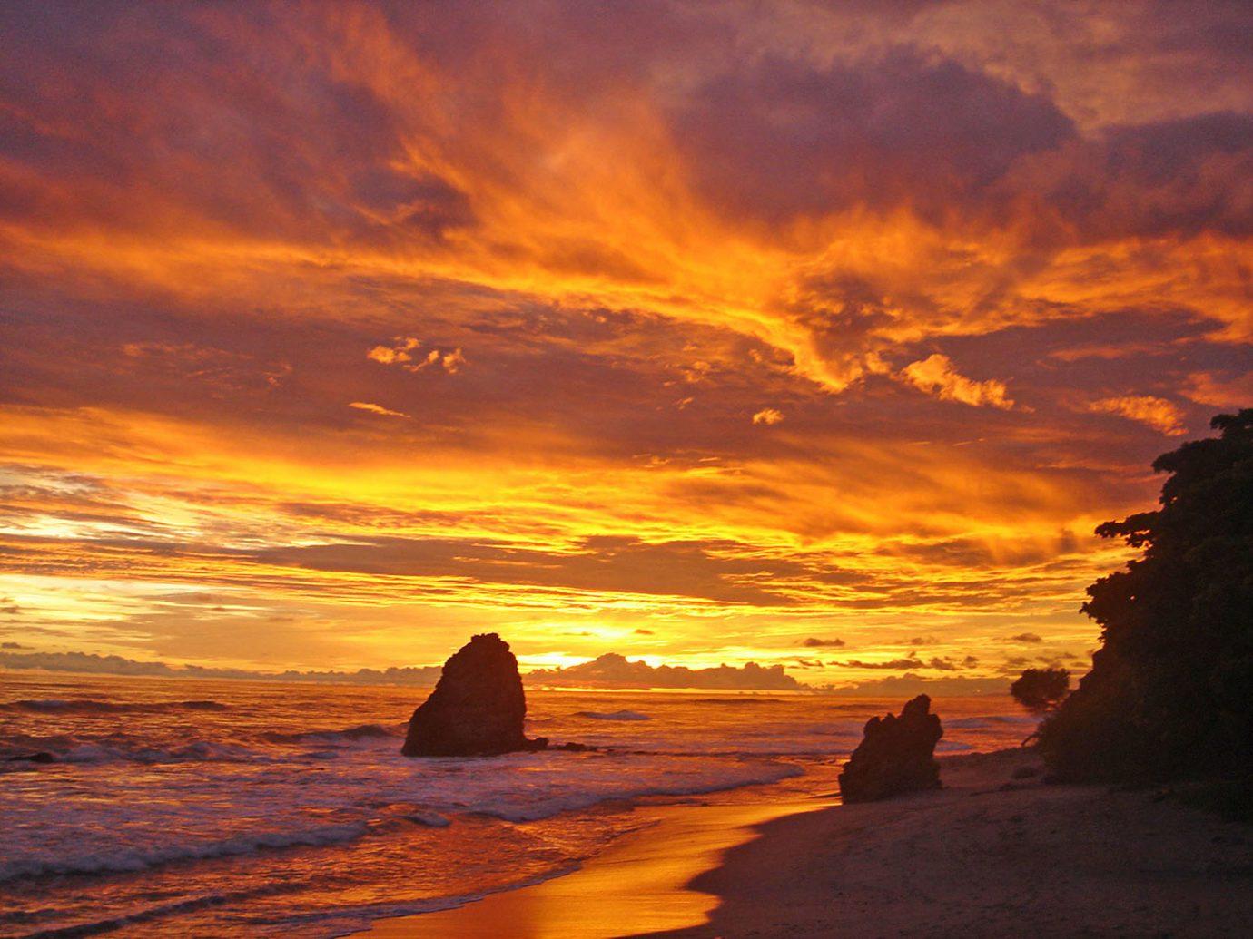 Sunset At Santa Teresa Beach In Playa Santa Teresa