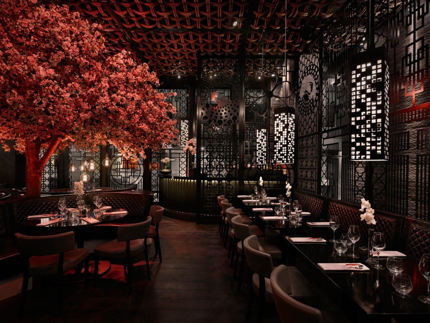 Jetsetter Guides indoor room lighting restaurant Bar interior design furniture area several