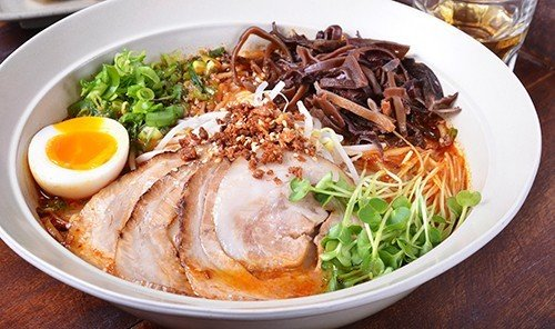 Food + Drink plate food table dish cuisine noodle asian food meal soup noodle soup meat lunch bibimbap bún bò huế southeast asian food several vegetable piece de resistance