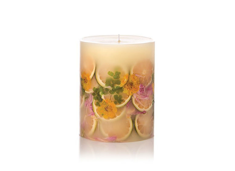 Rosy Rings Round Botanical Candle in Lemon Blossom Lychee