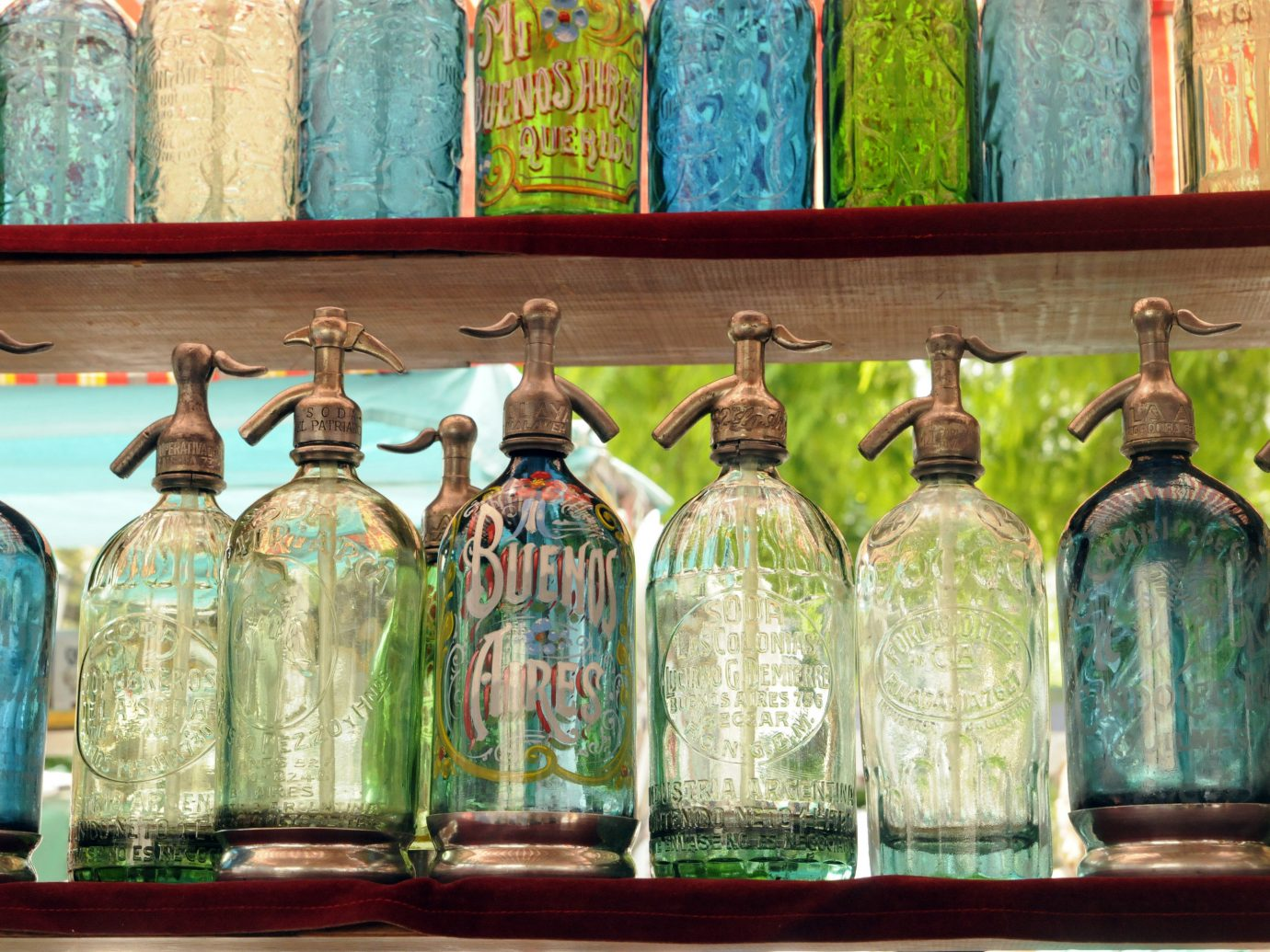 Trip Ideas color bottle green painting glass window altar several