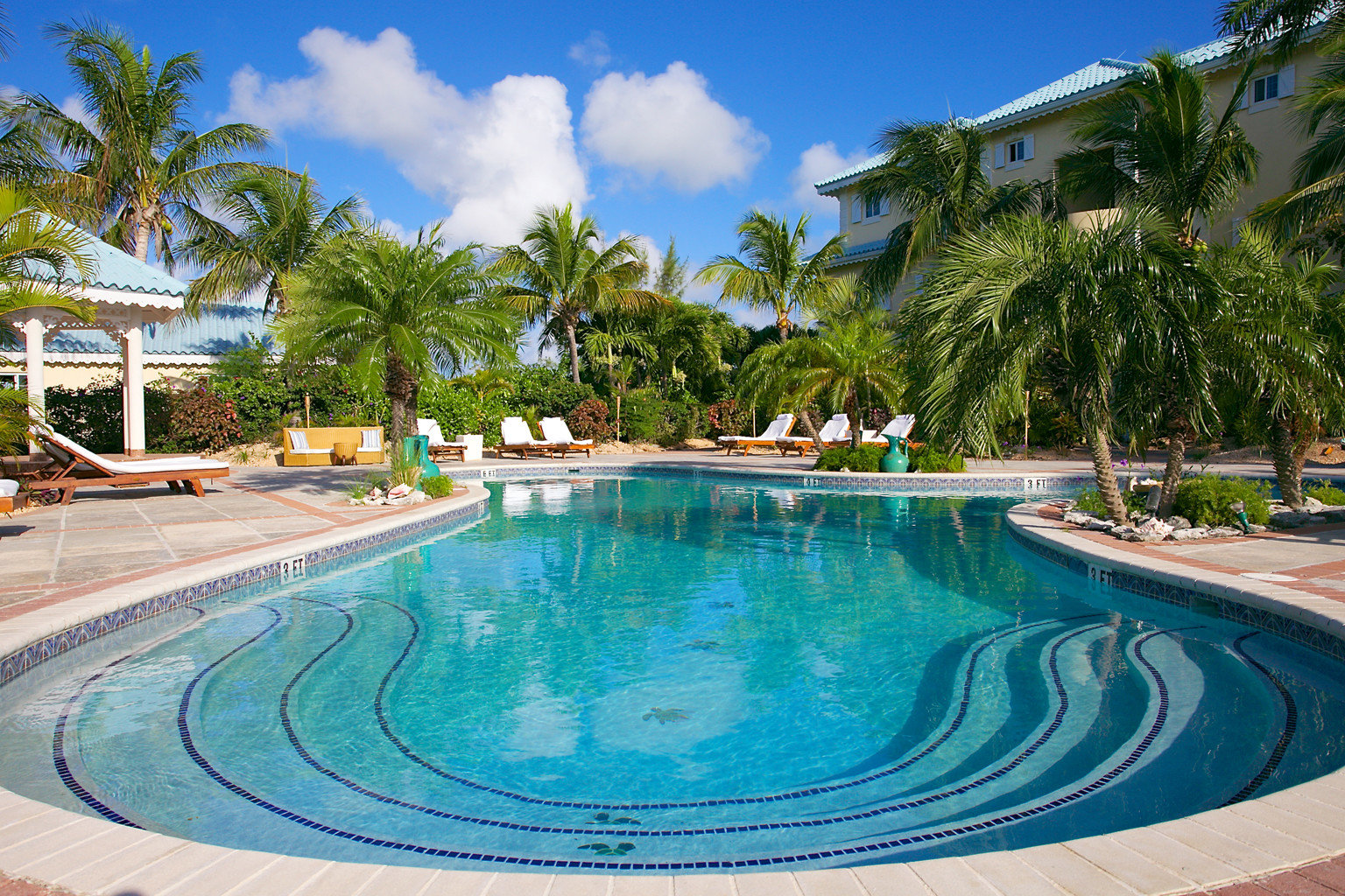 All-Inclusive Resorts Beachfront Boutique Luxury Pool Resort tree outdoor sky ground swimming pool property estate leisure vacation caribbean resort town real estate Villa Lagoon backyard blue palm