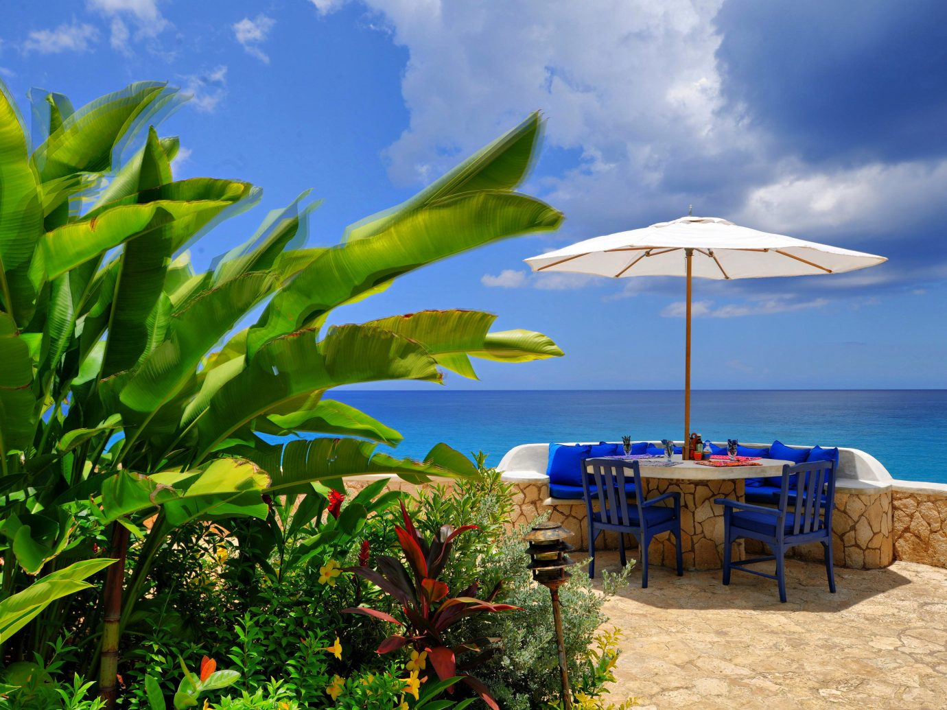 Table With A View At The Caves Hotel In Jamaica, An Adults-Only Luxury Resort