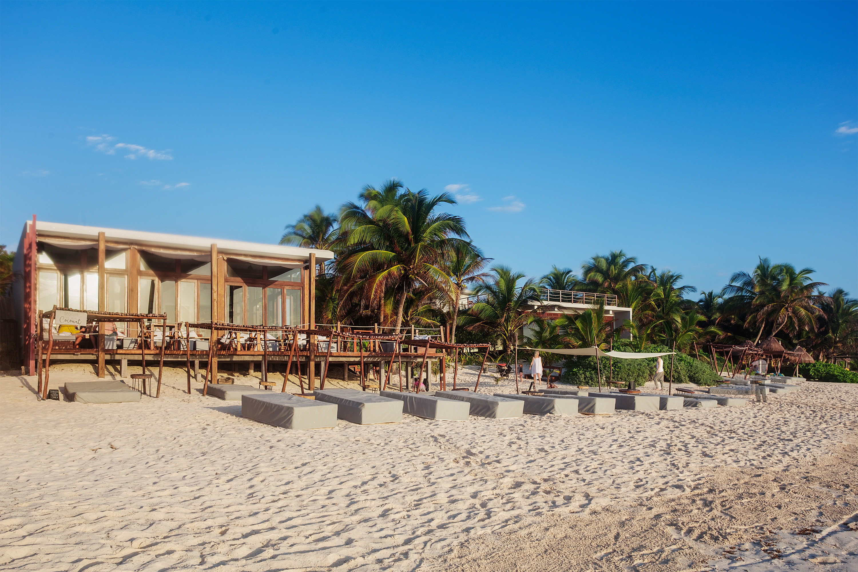 Boutique Hotels Hotels Mexico Tulum outdoor sky ground Beach property Resort walkway vacation boardwalk estate Sea shore sandy day several