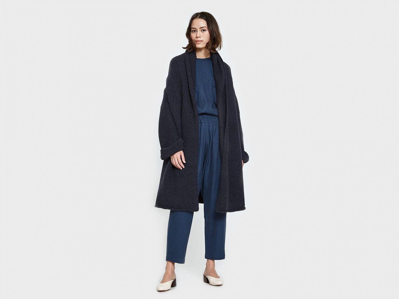 Style + Design Travel Shop coat clothing overcoat fashion model electric blue suit