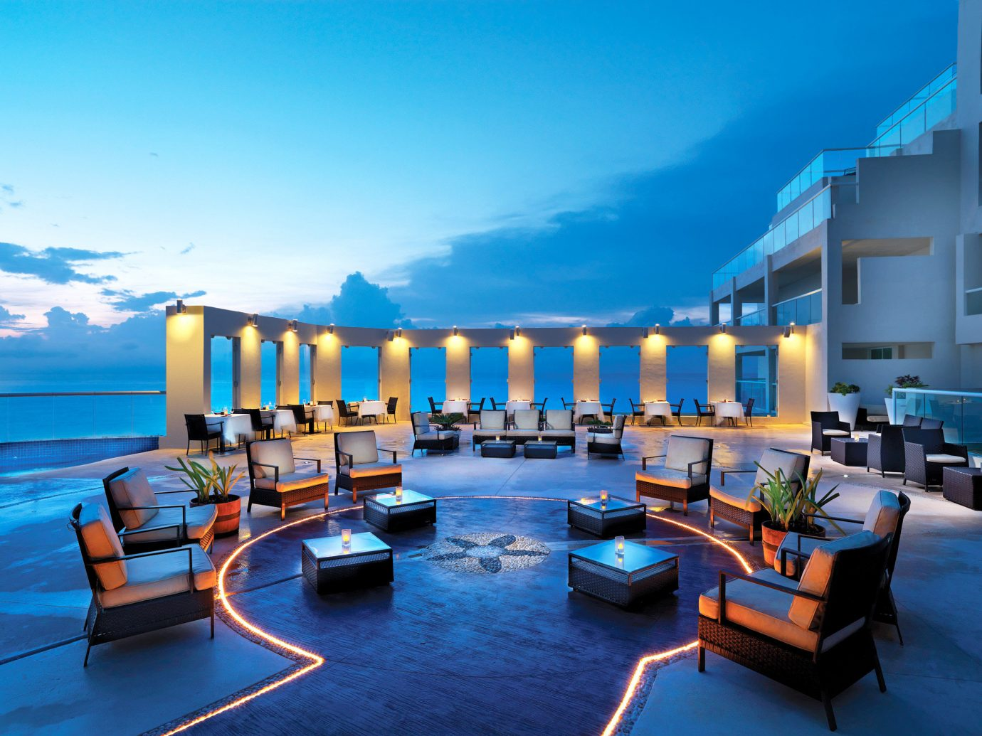 Adult-only Bar Beachfront Drink Eat Hotels Nightlife Ocean Romantic sky water scene leisure property Resort condominium estate house vacation swimming pool marina interior design dock Villa apartment Harbor caribbean furniture several