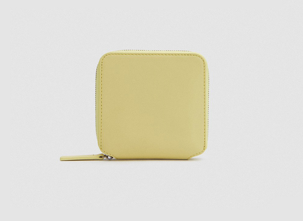 Gift Guides Style + Design Travel Shop yellow wallet product design product coin purse beige rectangle
