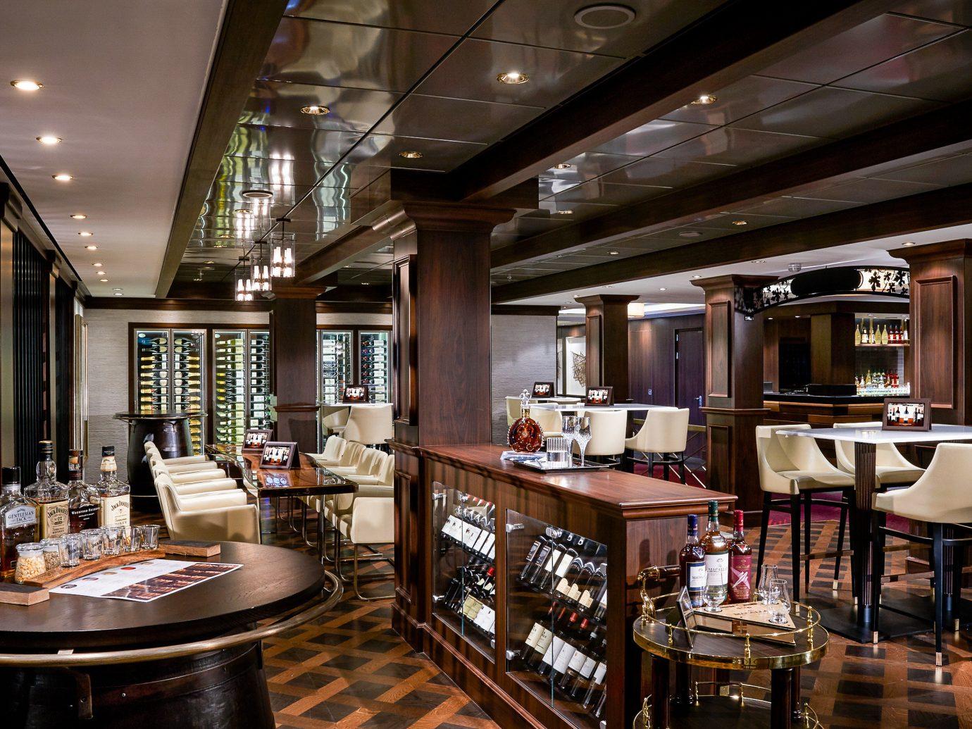 Cruise Travel Luxury Travel Trip Ideas indoor ceiling floor restaurant interior design Bar café pub furniture several