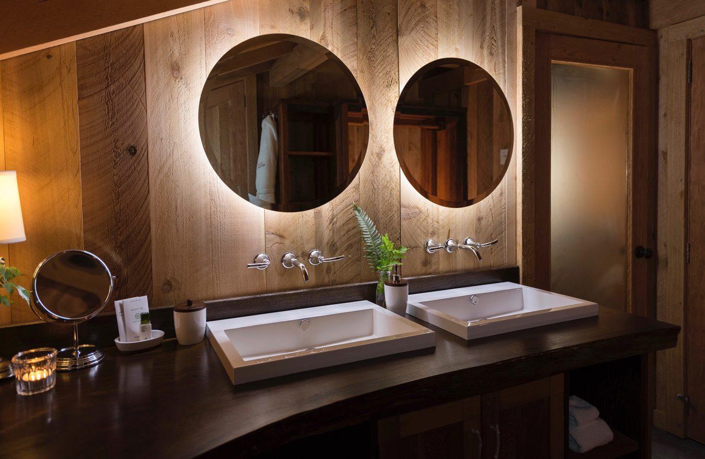 Glamping Outdoors + Adventure Weekend Getaways wall indoor room interior design bathroom home countertop Suite ceiling interior designer window