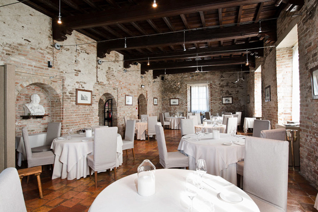 Food + Drink Hotels Italy Luxury Travel Trip Ideas indoor ceiling floor restaurant table interior design furniture