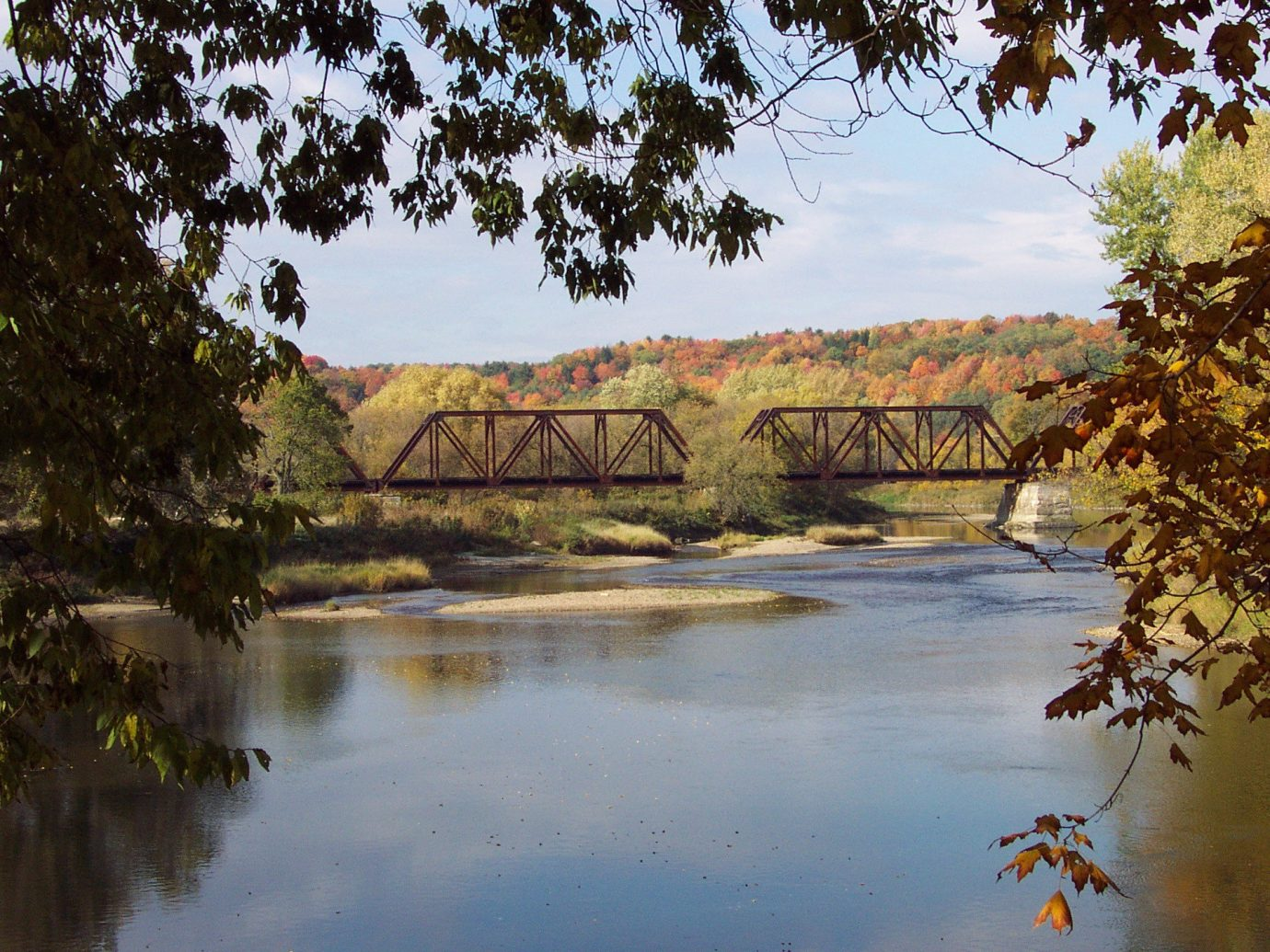 Trip Ideas tree outdoor water River reflection Nature leaf pond bank Lake wetland sky landscape bridge reservoir plant watercourse bayou fluvial landforms of streams autumn branch floodplain grass riparian zone creek traveling surrounded bushes wooded