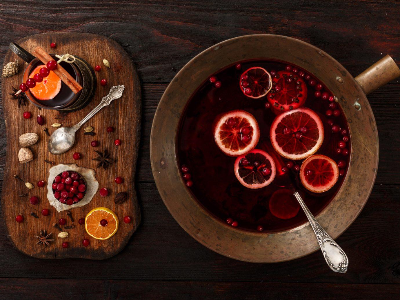 Food + Drink red indoor wheel lighting circle meal