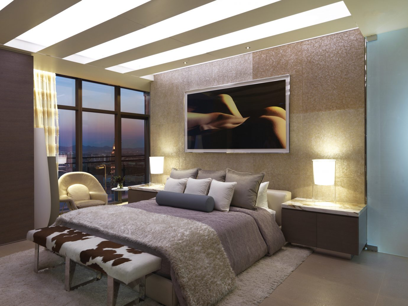 Hotels Romance indoor floor wall room ceiling interior design bed frame living room Living Bedroom home interior designer hotel window furniture Suite area Modern
