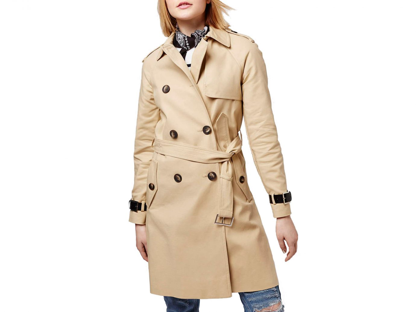 Style + Design clothing trench coat coat person wearing overcoat posing suit sleeve beige outerwear collar jacket dressed tan