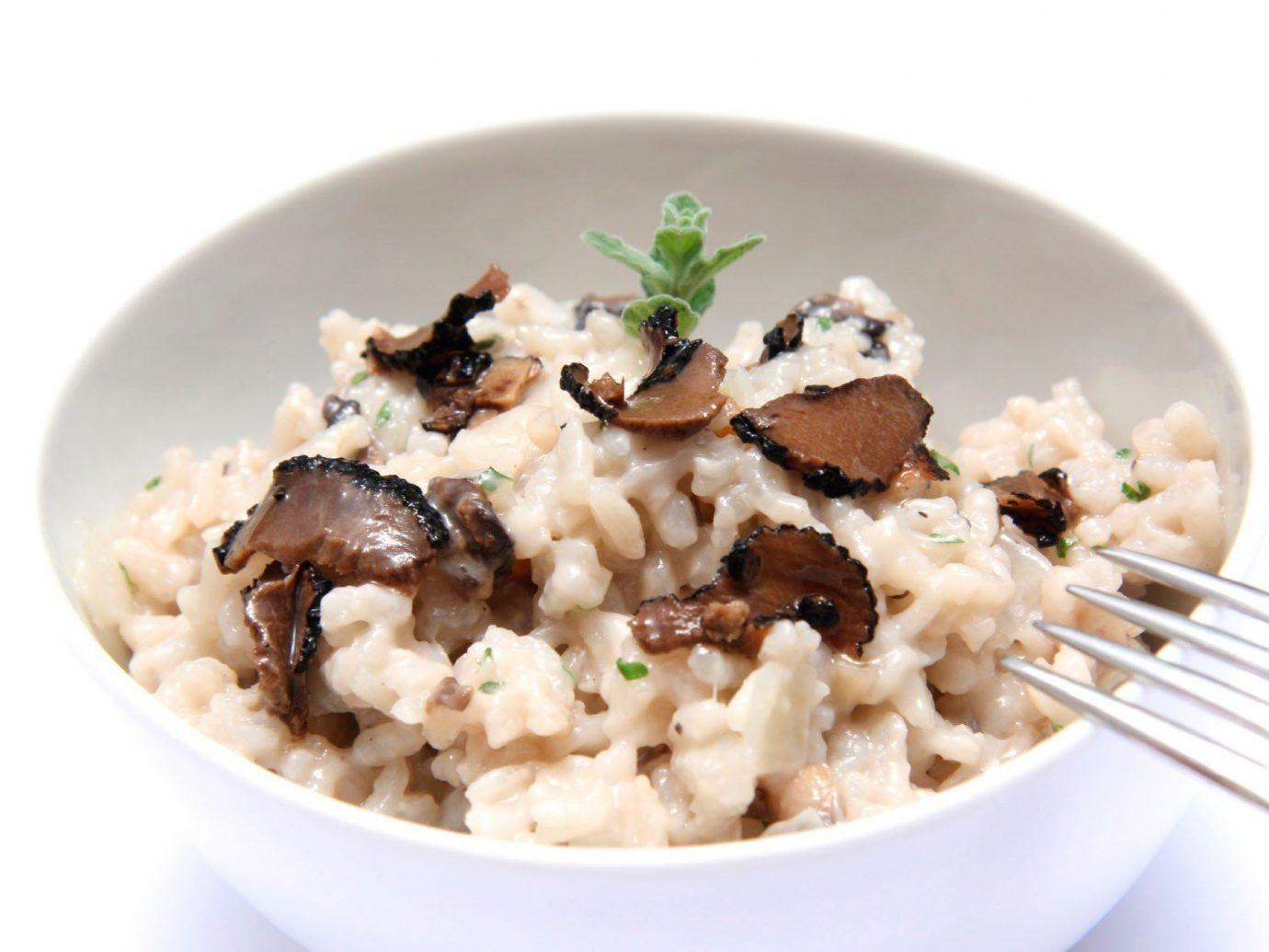 Food + Drink plate food dish white cuisine italian food risotto produce meal breakfast european food vegetarian food meat