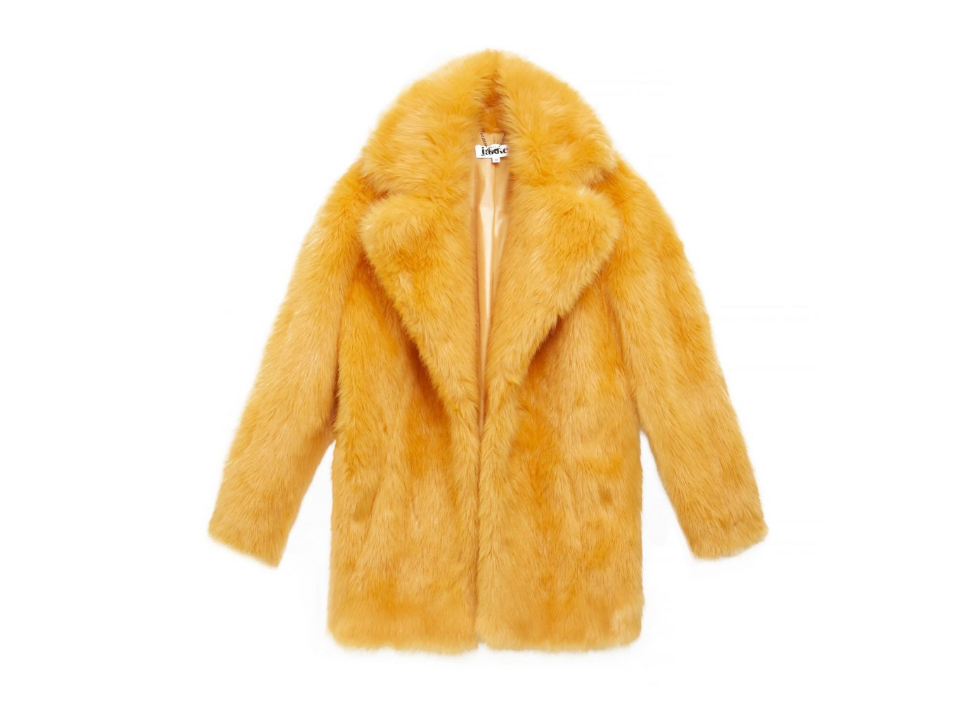 Style + Design coat clothing fur clothing fur yellow outerwear textile leather material orange